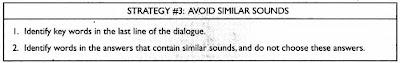 Strategi menghadapi Listening Part A