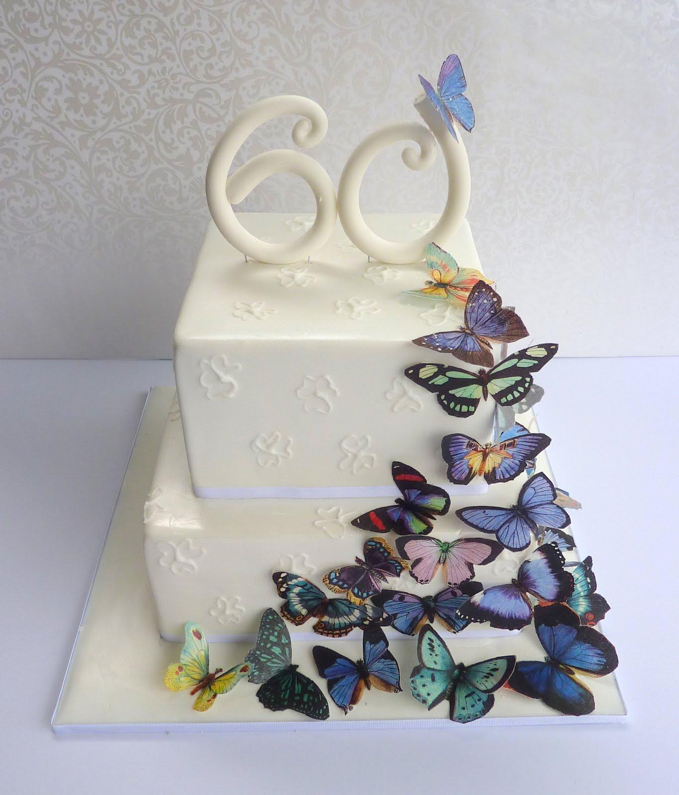 Vanilla Lily Cake Design: butterflies....