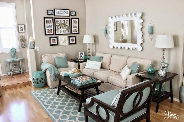 Salones turquesa decorar tu casa es for Decoracion living room ideas