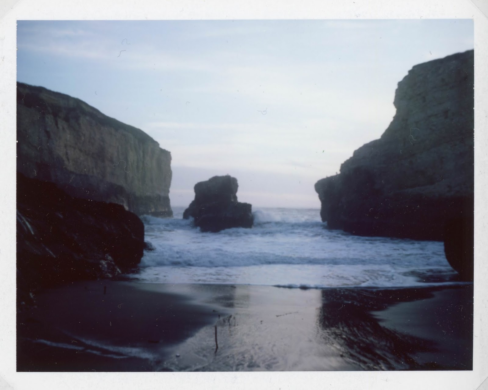 Shark Fin Cove on Polaroid 195
