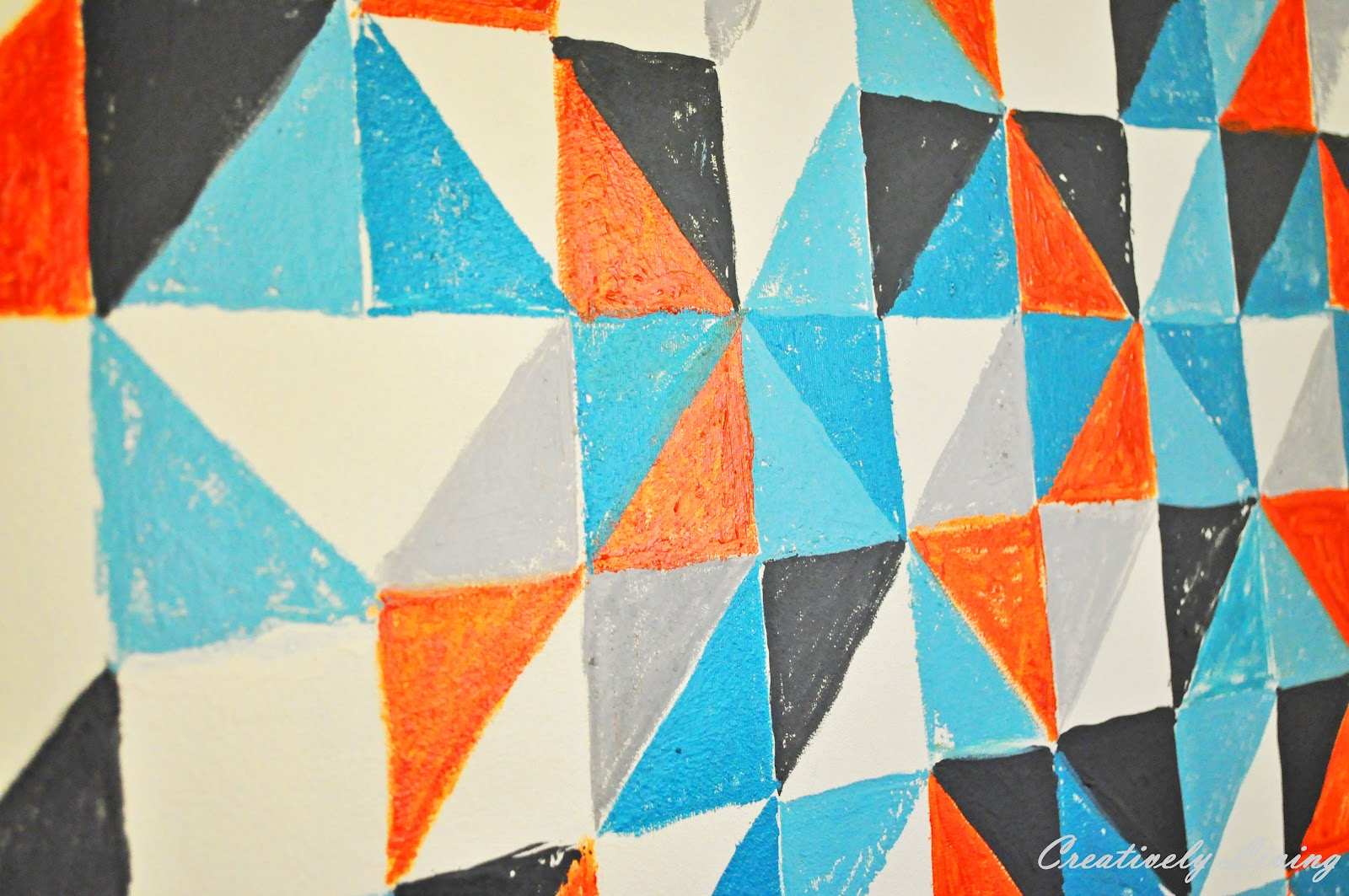 Geometric Wall Art diy geometric wall art (nursery project #1) - creatively living blog