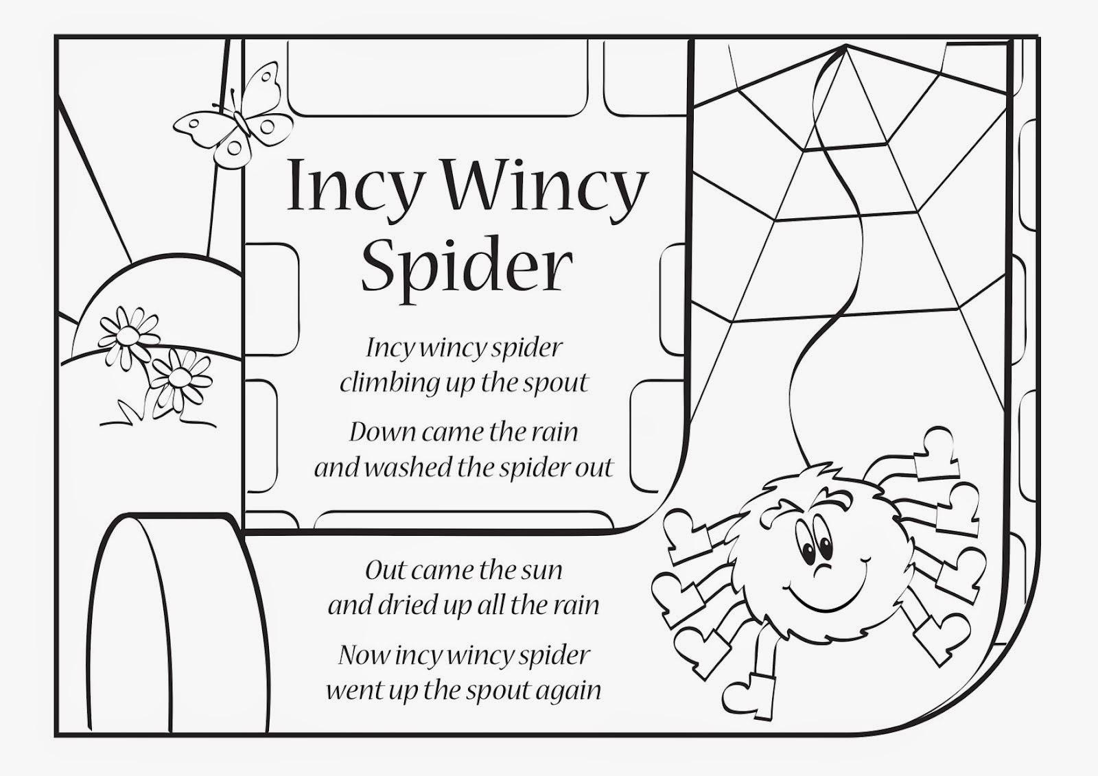 """Résultat de recherche d'images pour """"paroles incy wincy spider"""""""
