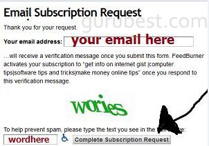 how to subscribe to my blog post