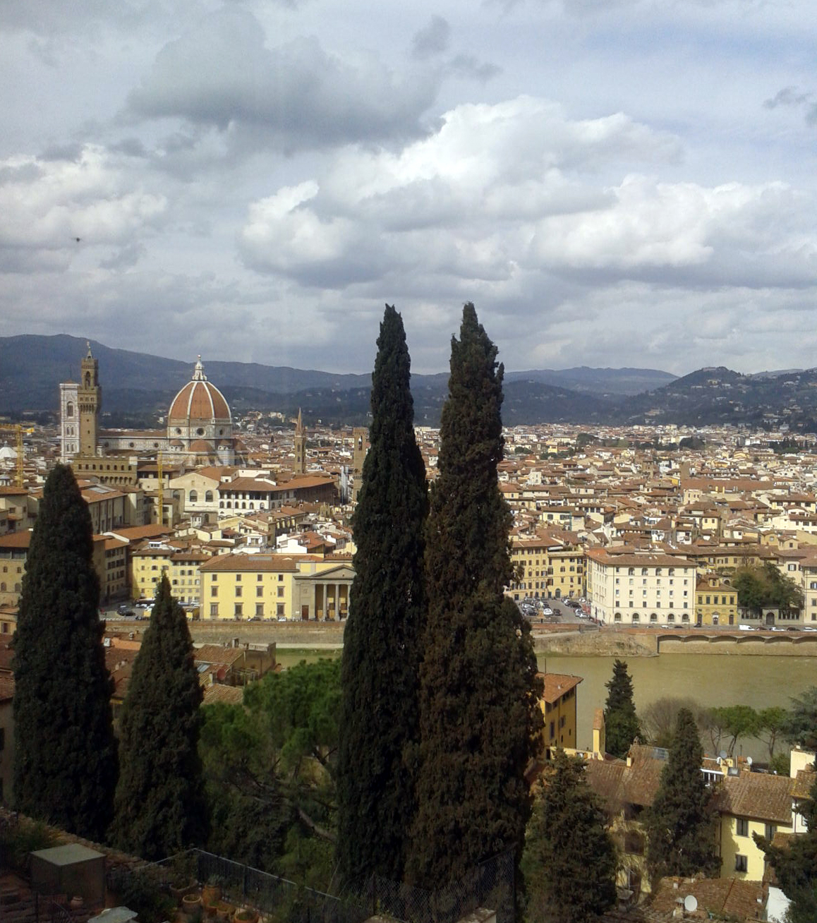 Curiosità di Firenze: Veduta dalla terrazza e dal giardino di Villa ...