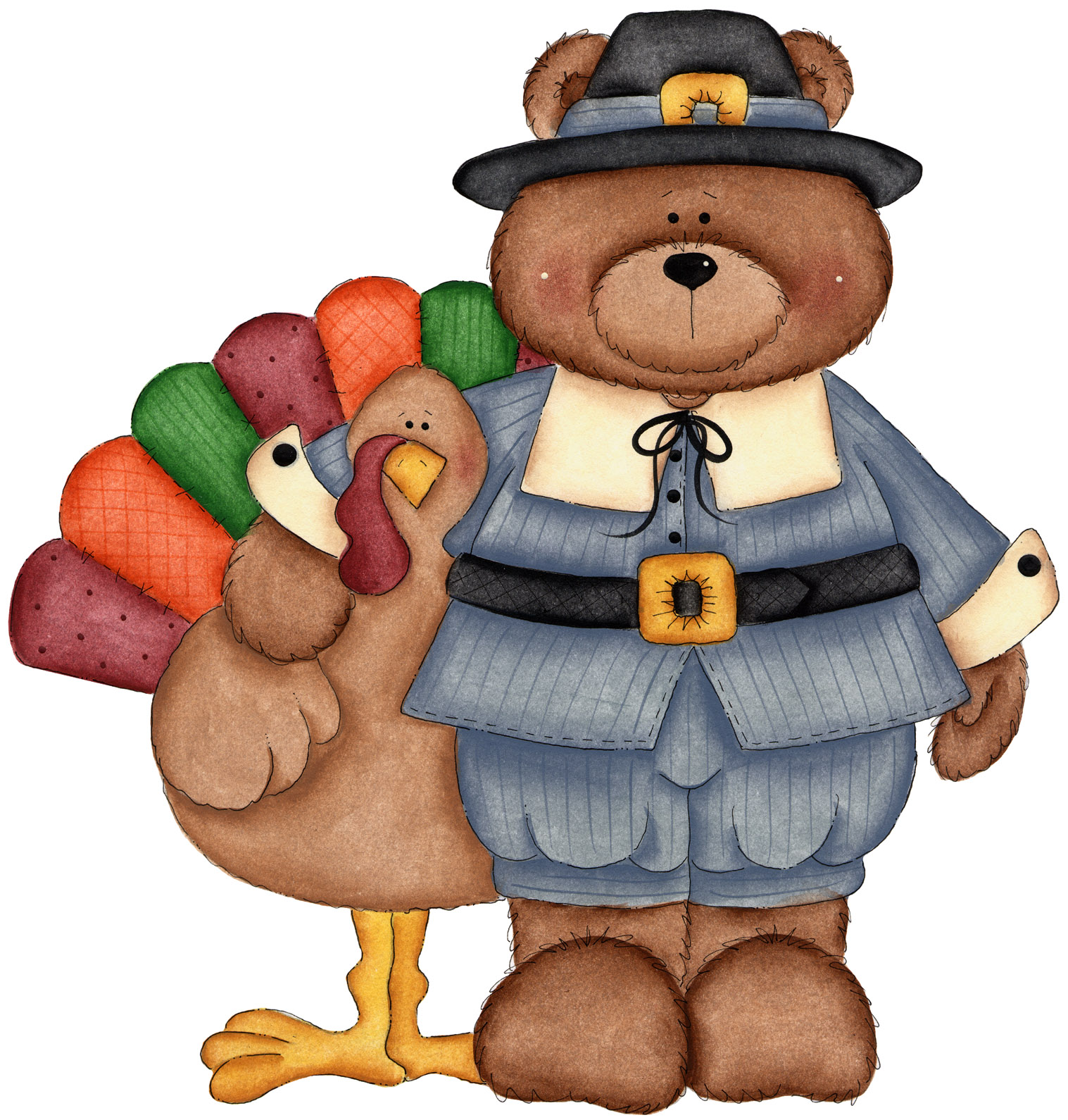 thanksgiving clip art coloring pages