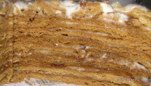 Медовик заливной рецепт с фото