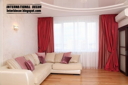 stylish red curtain, red window treatments