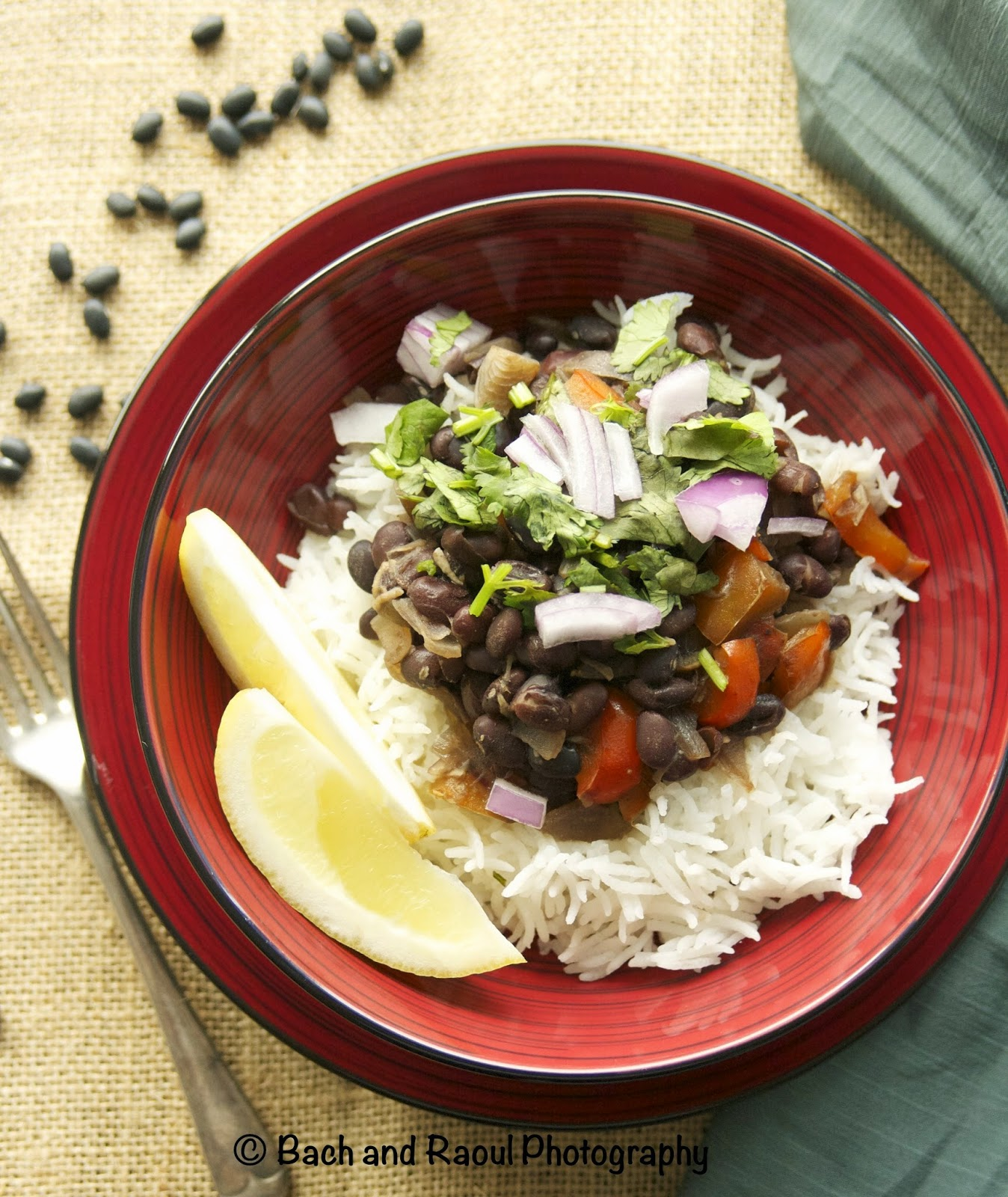 Cuban Black Beans on Rice