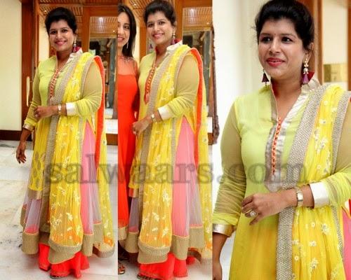 Nikitha Reddy Collar Neck Salwar