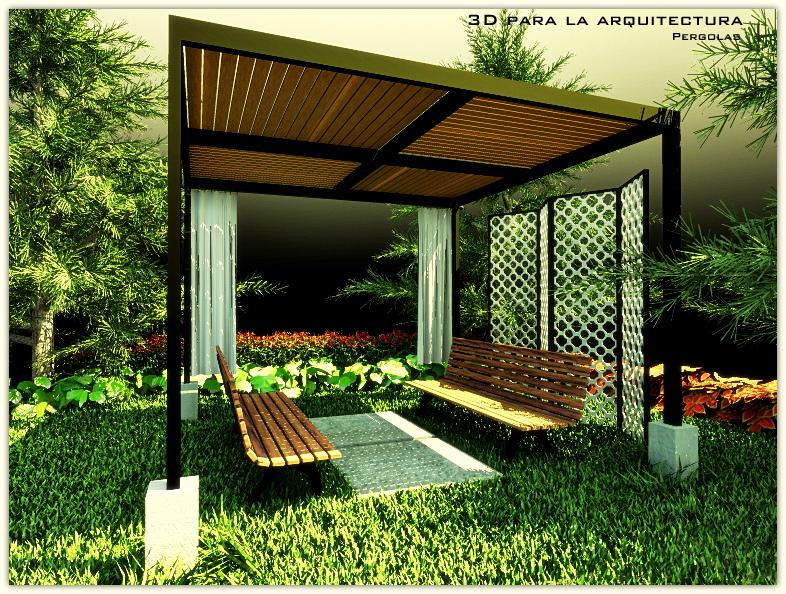 3d render para la arquitectura y el urbanismo pergolas para patios y jardines - Pergolas para jardines ...