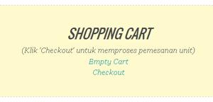 Cara Membuat Tombol Checkout Atau Kotak Shopping Chart