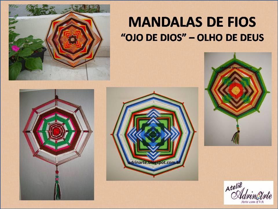 """Mandalas de fios """"Ojo de Dios"""" - Olho de Deus"""
