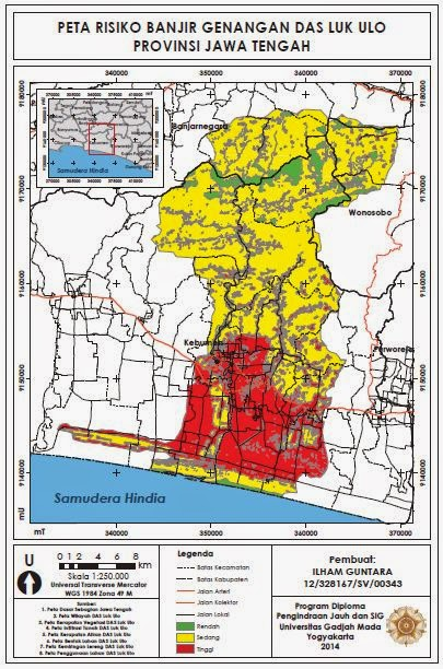 Peta Risiko Banjir Genangan DAS Luk Ulo www.guntara.com