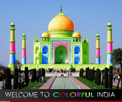 Colorful Taj Mahal India