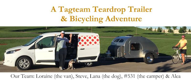 A Tag Team <br>Teardrop Trailer & Bicycling Adventure
