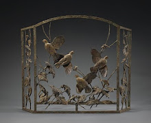 Sunburst Quail Fire Screen