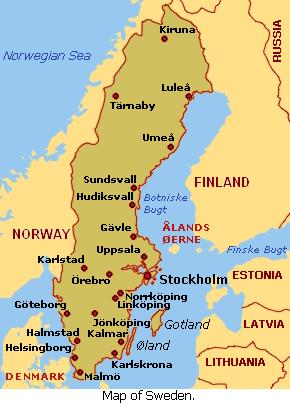 Swedish Towns Images Reverse Search - Sweden map towns