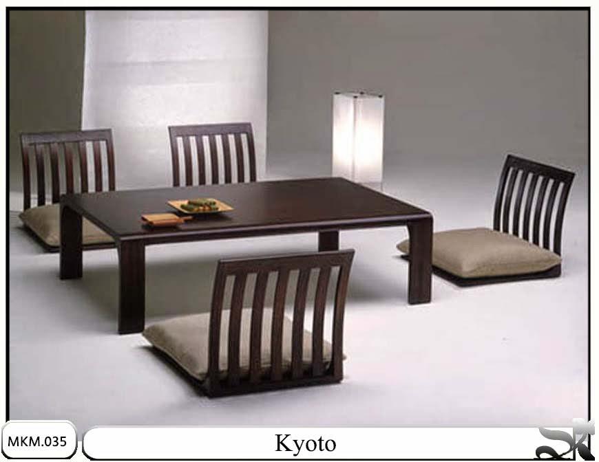 Kursi makan minimalis dan meja Kyoto