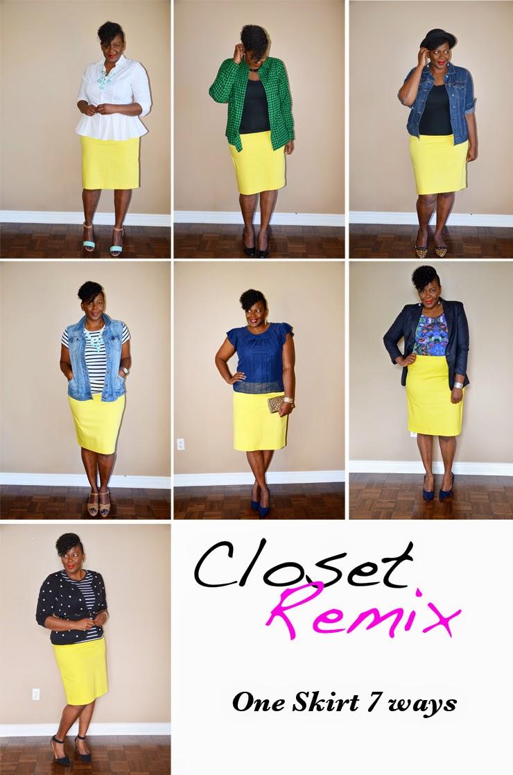 Closet remix: one skirt 7 ways