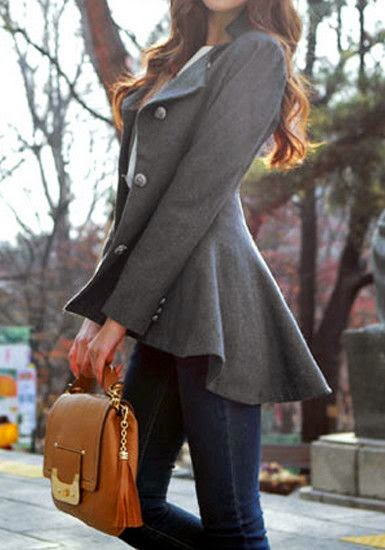 fit-and-flare blazer.
