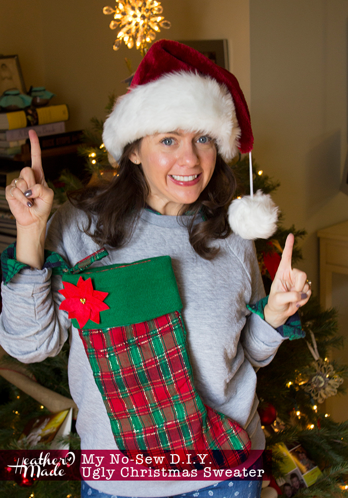 my no sew diy ugly christmas sweater - Ugly Christmas Sweater Ideas Homemade