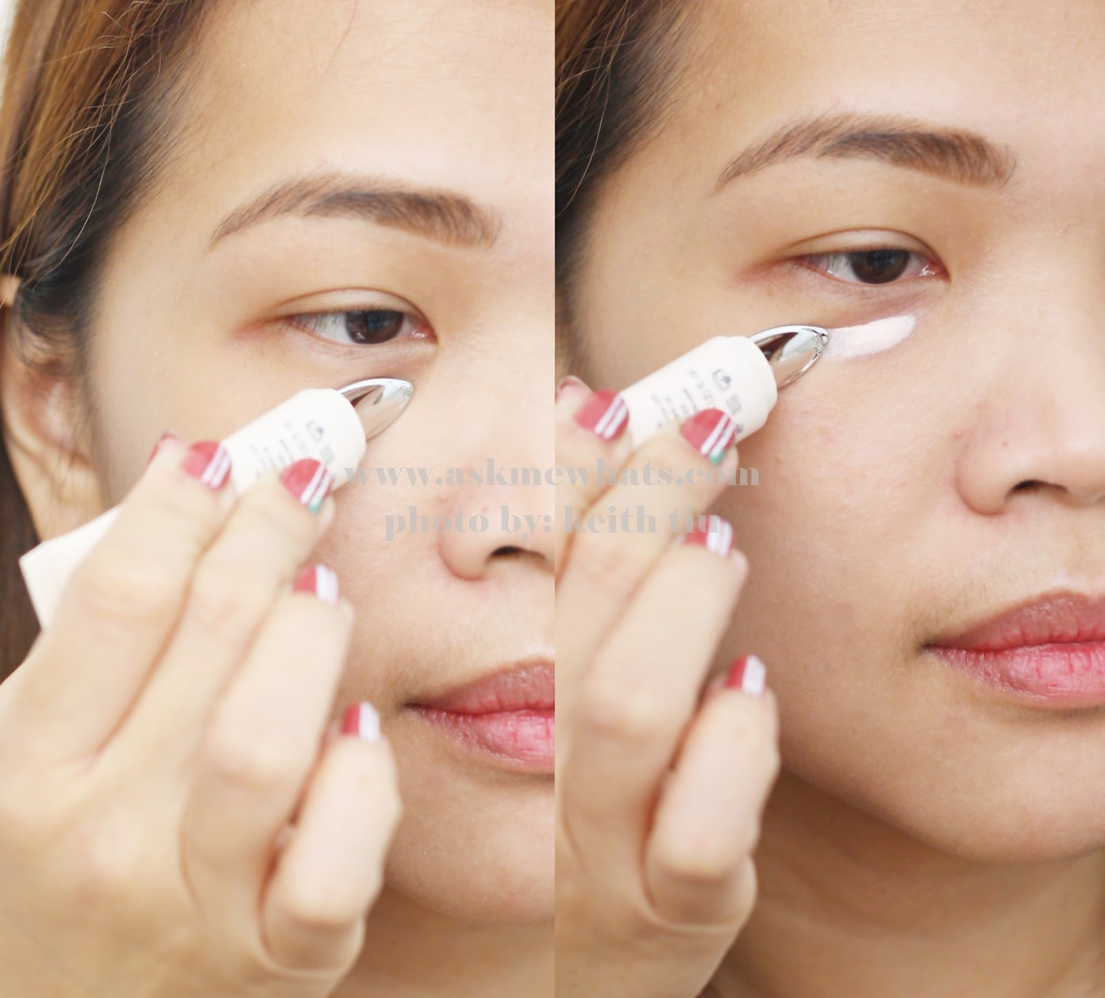 How to use photo Benefit Puff Off! Instant Eye Gel