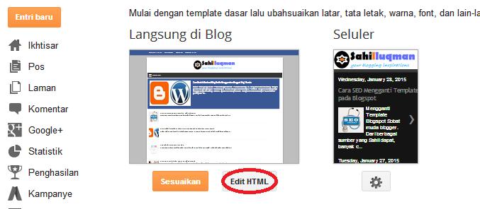 Cara SEO Mengganti Template pada Blogspot