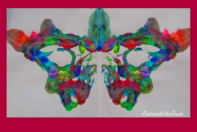 photo of: symmetry in butterfly painting for preschool, artwork for children, kindergarten