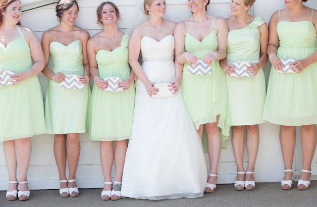 matching bridesmaids clutches