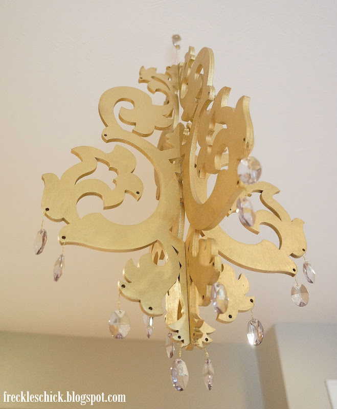 Freckles Chick Whimsical Wood Chandelier - Chandelier crystals michaels