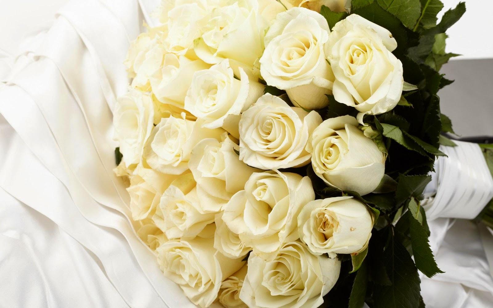 Цветы букеты белые розы