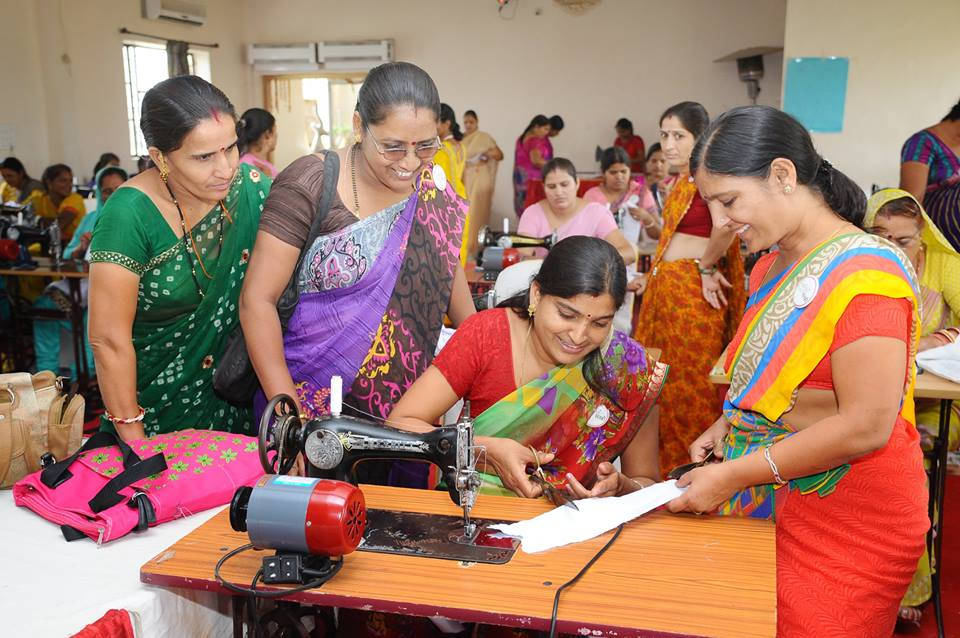 SAKHI women at Uniform Making Workshop