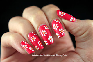 flower nail art tutorial