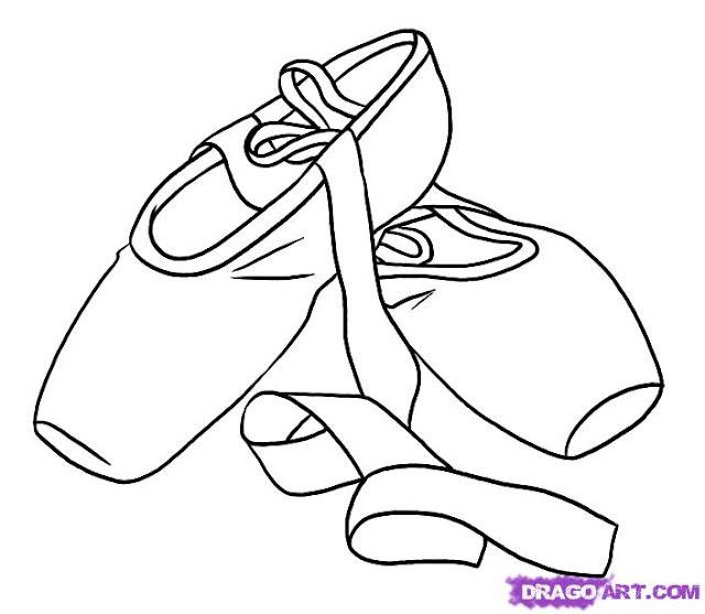 Imagenes para colorear de zapatillas de ballet - Imagui
