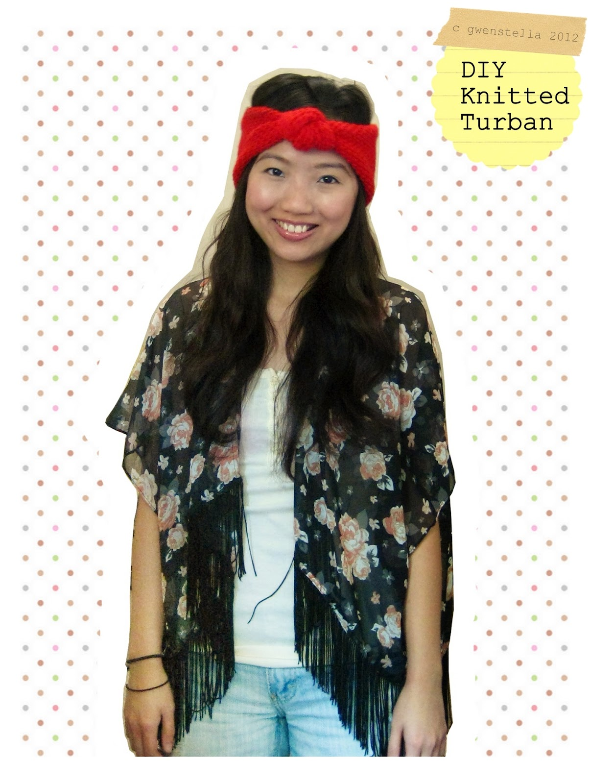 because she started knitting: DIY: Turban Knot Headband