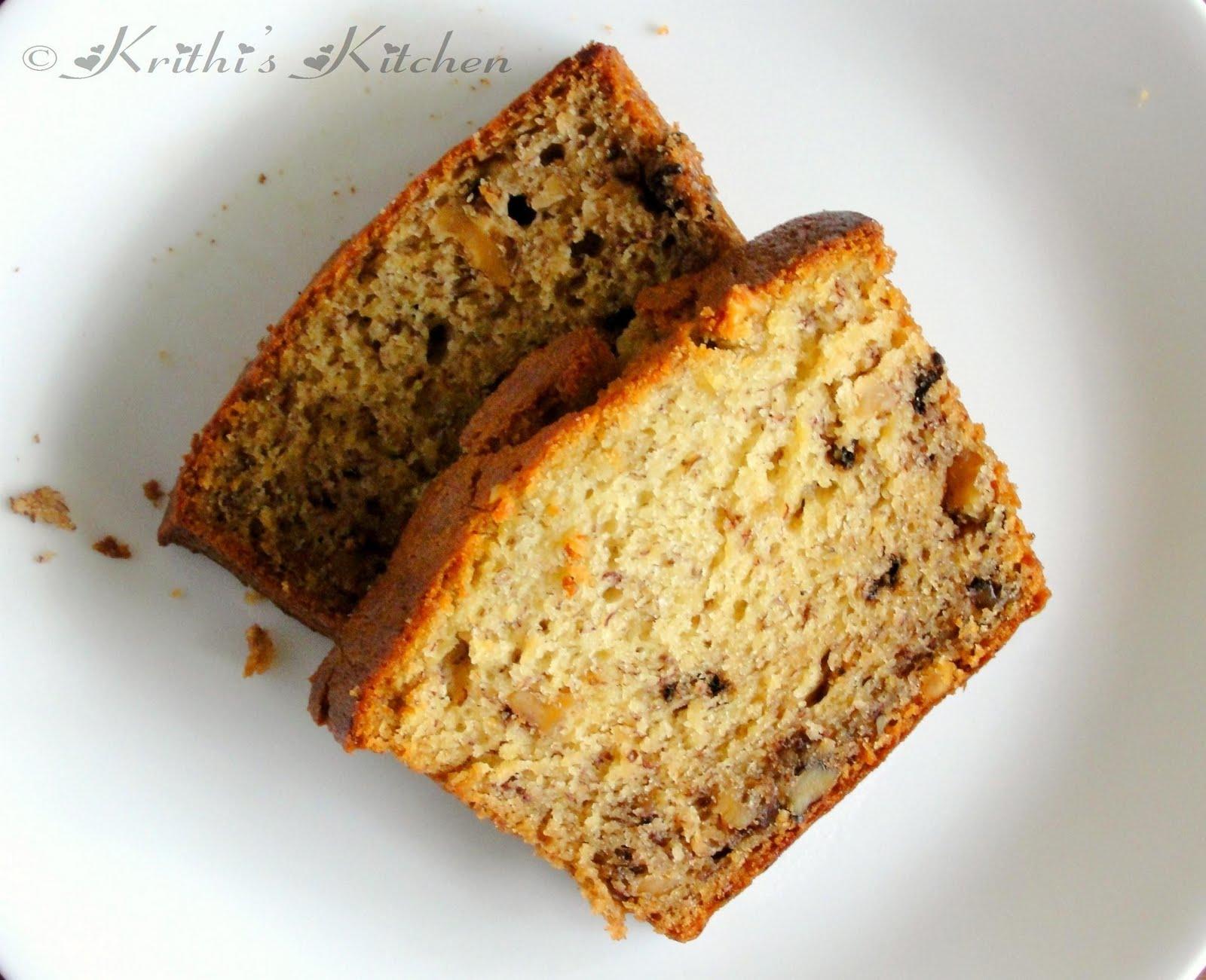 Krithi's Kitchen: Banana Walnut Bread