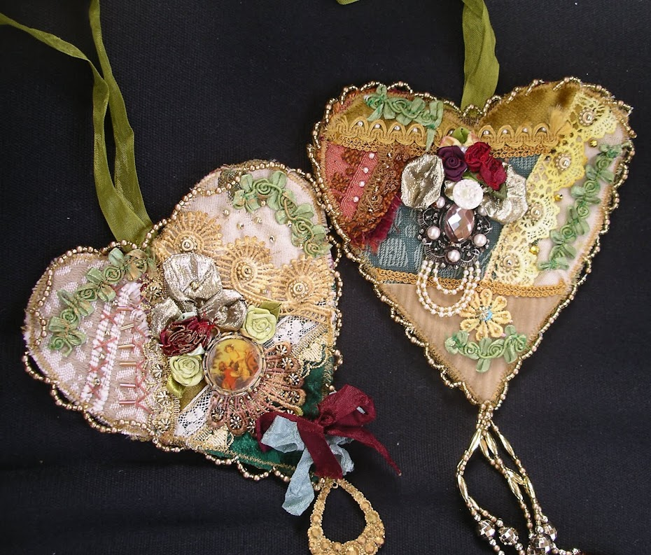 Two Decorated Romantic hearts