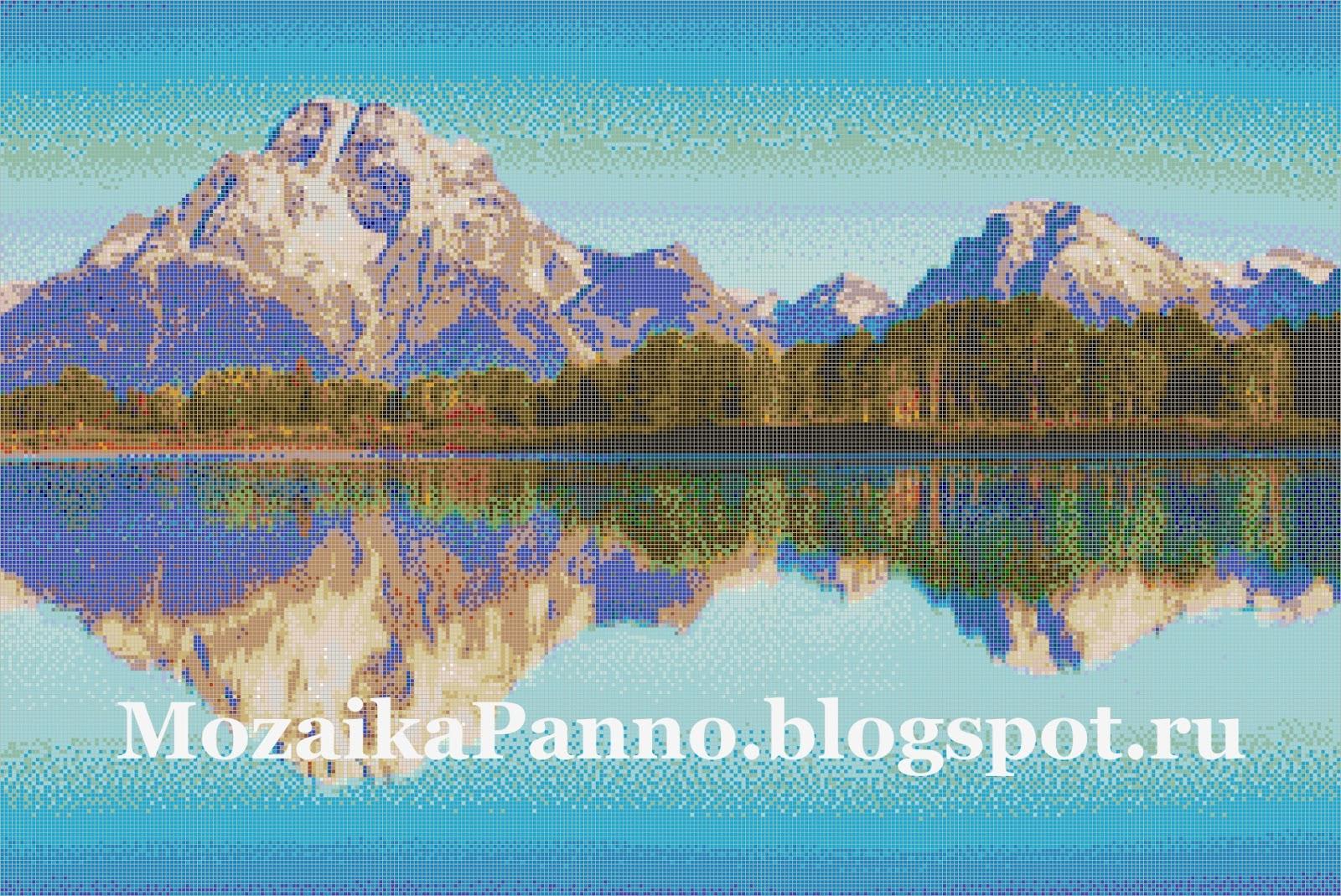 Мозаичное панно «Озеро Джексон»