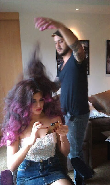 Unseen pics: Jacqueline Fernandez snapped with make-up artist Daniel Bauer