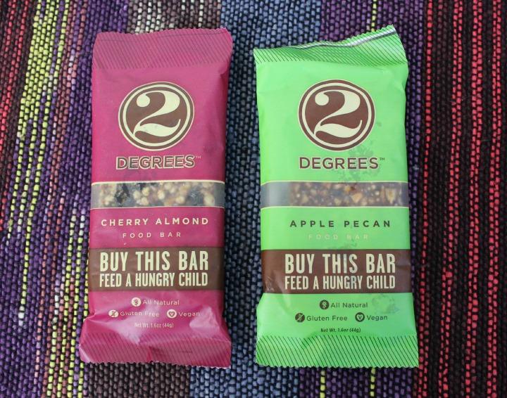 2 Degrees Cherry Almond & Apple Pecan Food Bars