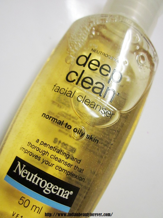 Neutrogena Deep Clean Face Wash Review Normal To Oily Skin - Best face wash for oily skin