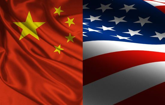 Bendera China dan Amerika