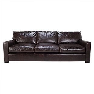copy cat chic restoration hardware maxwell leather sofa