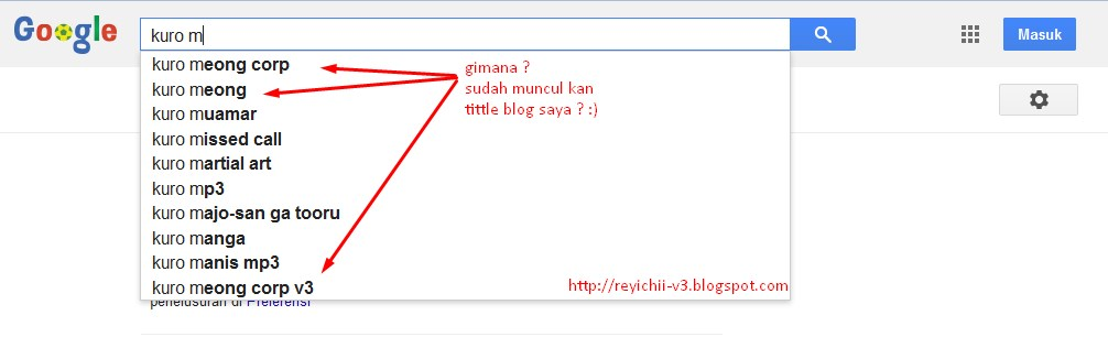 Cara Agar Nama Blog Kita Masuk Search Engine Google