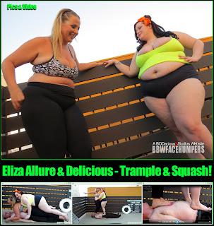 eliza allure bbw trampling Eliza Allure & Delicious Trample & Squash