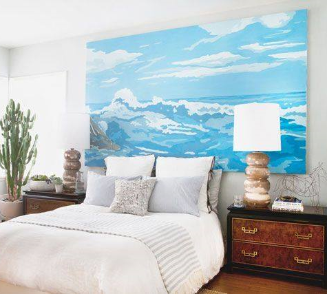 Diy large scale stretched canvas make your own giant for Large bedroom paintings