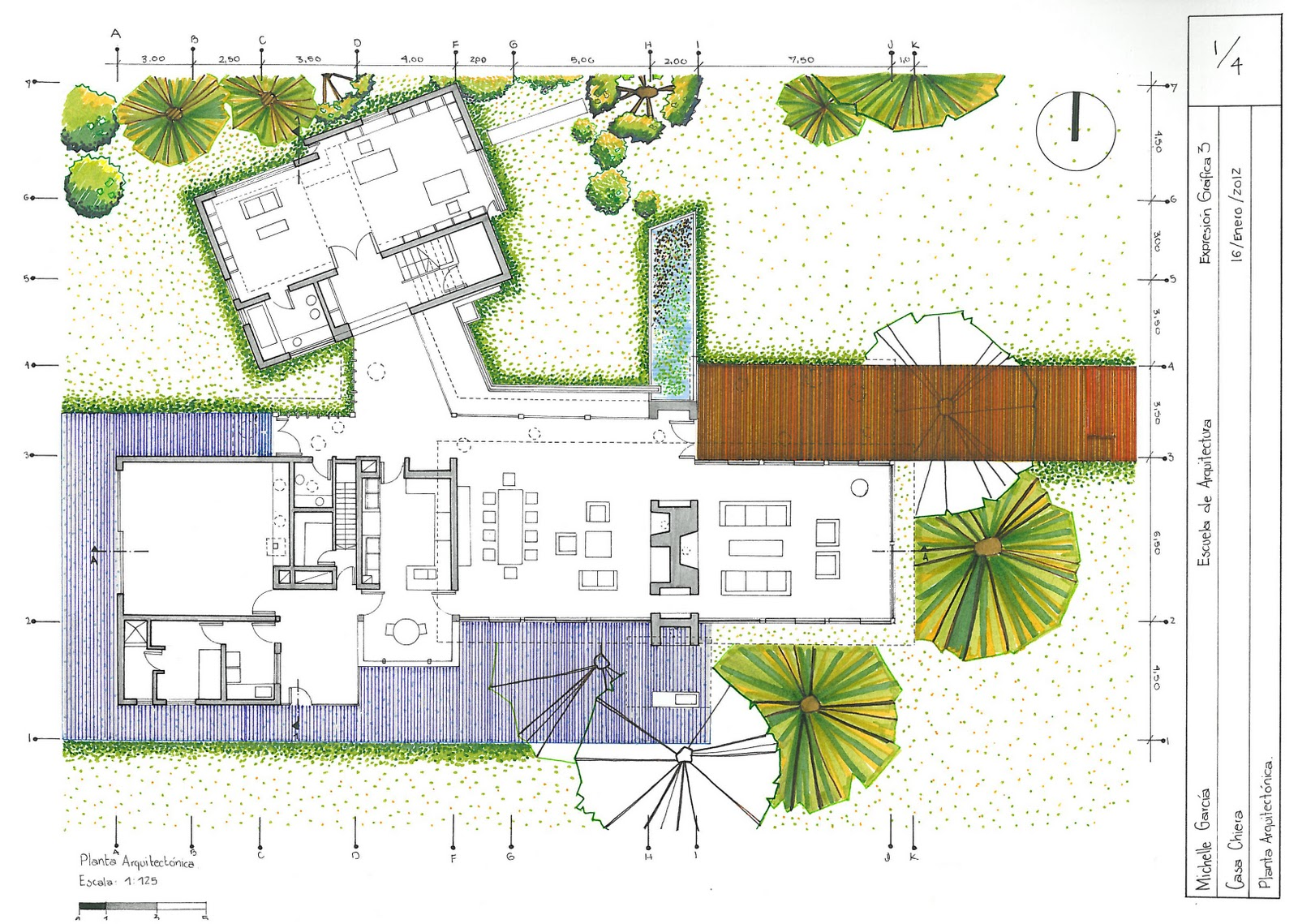 Arquitectura uda expresion y representacion grafica 3b for Representacion grafica de planos arquitectonicos