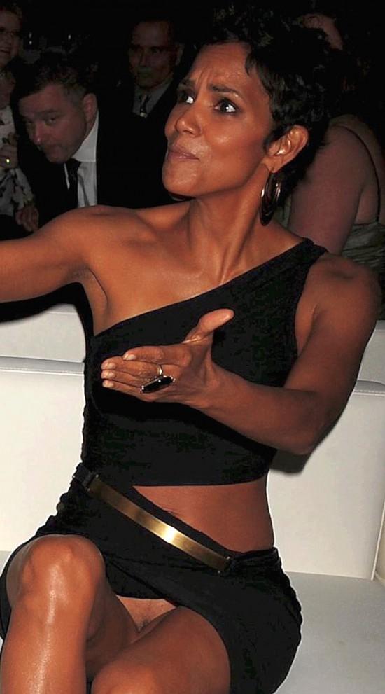 Halle Berry upskirt