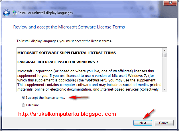 Windows 7 Language Interface Pack Bahasa Indonesia