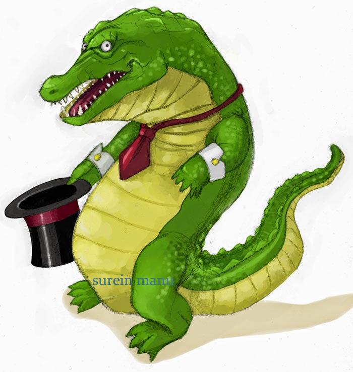 Un mignon crocodile magicien